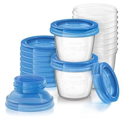 Baby Feeding Philips Avent Breast Milk Storage Cups, 6 Ounce (Pack Of 10) Easy