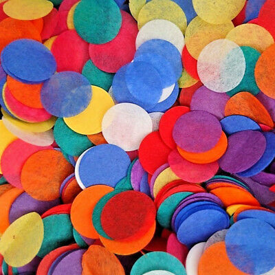 3000pcs Rainbow Circles Confetti Biodegradable Kids Party Wedding Throwing Decor