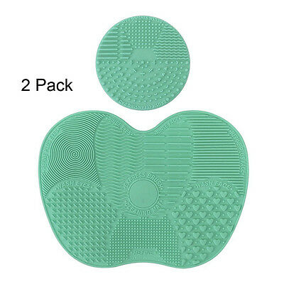 4x Silicone Makeup Brush Cleaner Pad Washing Scrubber Board Cleaning Mat