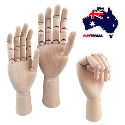 AU Wooden Hand Body Artist Model Jointed Articulated Sculpture Mannequin Fingers