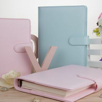 4 Color A5 Leather Loose Leaf Ring Binder Notebook Agenda Planner Memory Diary