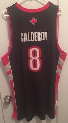 58f8c2a6d Jose Calderon Toronto Raptors Authentic Nba Jersey 48 XL Nwt New  8 Sewn  Adidas