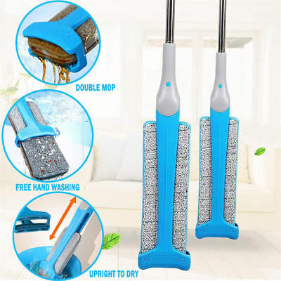 Self-Wringing Double Sided Lazy Flat Magic Mop Telescopic Cleaning Tool