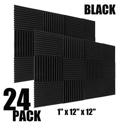 24 Pack- Acoustic Panels foam Engineering sponge Wedges Soundproofing Panels