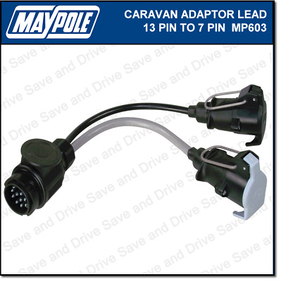 Maypole 13 Pin to 7 Pin Plug Caravan Towing Adaptor Lead 12N/12S Electrics MP603