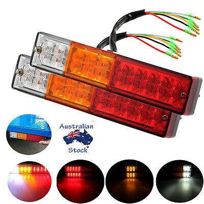 Pair 20LED Rear Tail Stop Indicator Brake Lights Waterproof Truck TrailerUTE 12V