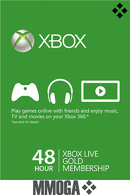 48 hours Xbox Live Trial Membership Code - Xbox 360 One Subscription Key - US/CA