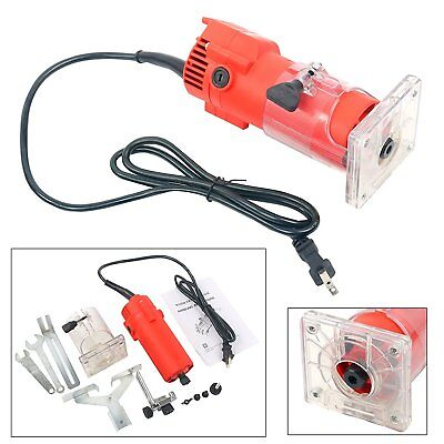 【CA Ships】110V 300W Powerful Trim Router Edge Woodworking Wood Clean Cut Tool