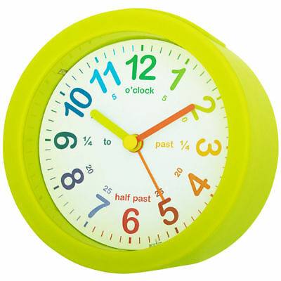 Acctim Childrens Lulu Alarm Clock Lime Mini Tell The Time Colourful Easy to Read