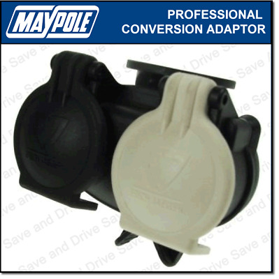Maypole Towing Conversion Adaptor 13 Pin Socket To 7 Pin 12n & 12s Socket MP6035