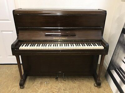 rogers upright piano mahogany stool very good condition picclick uk. Black Bedroom Furniture Sets. Home Design Ideas