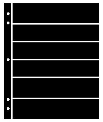 25 Supersafe (Showgard) 6 Pocket Black Stock Sheets 5 Packages Of 5 Double Sided