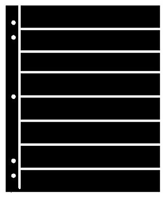 25 Supersafe (Showgard) 8 Pocket Black Stock Sheets 5 Packages Of 5 Double Sided