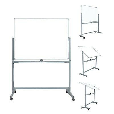 "Mobile Dry Erase Magnetic Whiteboard 47"" X 36"" Double Sided with Rolling Stand"