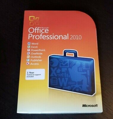 Brand New Microsoft Office Professional 2010 Genuine Retail Box Access Publisher