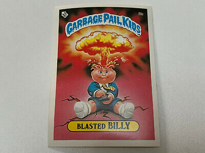 1985 UK Garbage Pail Kids 1st Series Card : 8b Blasted BILLY : Cheaters License