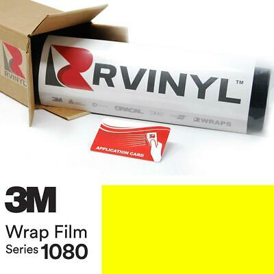 3M 1080 VCW17076 SATIN NEON FLUORESCENT YELLOW Vinyl Car Wrap Film Sheet Roll