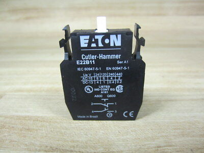 Eaton E22B2 CONTACT BLOCK 1NC New 10A