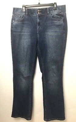 "Lane Bryant boot cut tighter tummy technology Jeans Womens Size 16 32"" inseam"