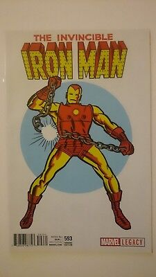 Invincible Iron Man # 593  Nm  1:50  Jack Kirby T-Shirt Variant Legacy  2017