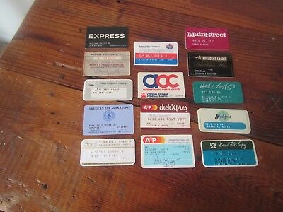 WoW! Lot of 14 Vintage Retail Store Cards Credit Charge Cards Sears/Fields/AMOCO