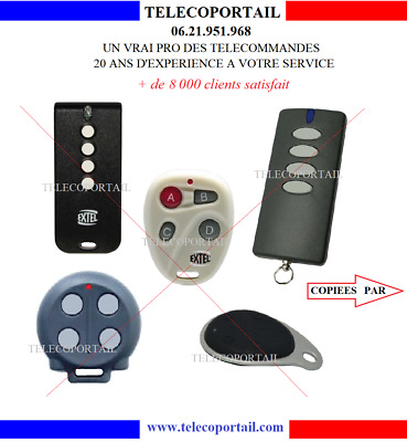 Telecommande Multifrequence Copieuse Extel Atem 2, 3, 4, Weatem5, Lifti ...