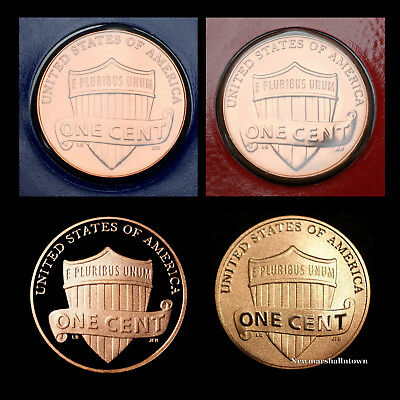 2017 P+D+S+S Lincoln Shield Proof Penny Mint Set with the Enhanced Cent