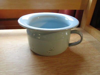 Antique VOLLRATH Ware Wisconsin Enamelware Child's Light Blue Chamber Pot