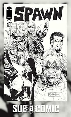 SPAWN #279 B&W WALKING DEAD TRIBUTE #115 (IMAGE 2017 1st Print) COMIC