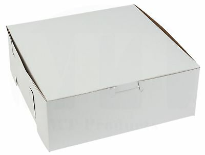 """White Bakery Box 8"""" Length x 8"""" Width x 3"""" Height by MT Products (Pack of 15)"""