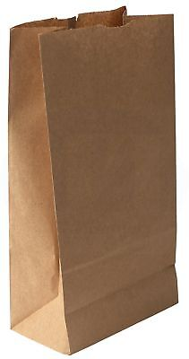 Grocery/Lunch Bag, Kraft Paper, 8 lb Capacity, (100 Count) (Brown)