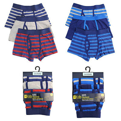 Boys / kids funky color boxer shorts Trunks 3 pack