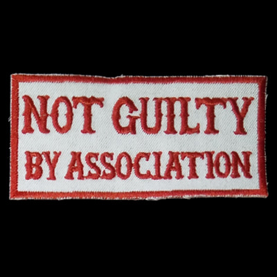 Hells Angels Support  NOT GUILTY BY ASSOCIATION   Aufnäher Original 81 Support