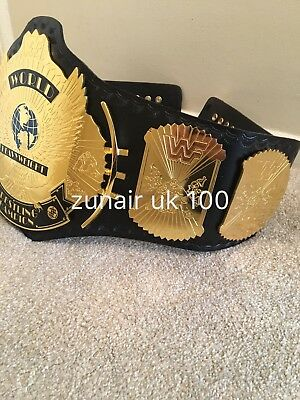 WWF Replica Winged Eagle Championship Title Belt Adult size free carry case