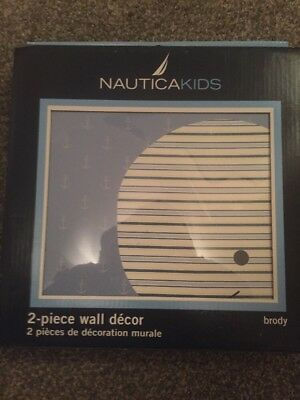 Nautica Kids 2-Piece Wall Decor Brody The Whale New and Factory Sealed Free Ship