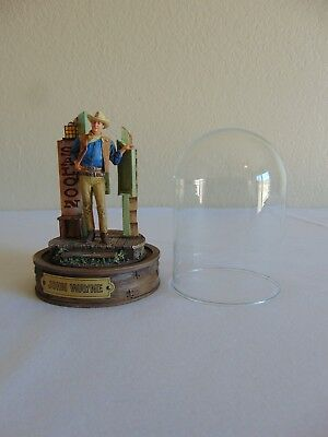 John Wayne Hand Painted Sculpture Saloon Figurine With Dome  by Franklin Mint