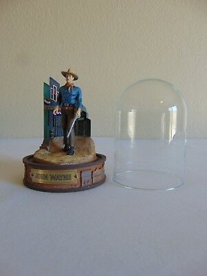 John Wayne Hand Painted Sculpture Figurine With Dome Numbered by Franklin Mint