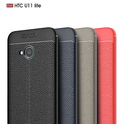 For HTC U11 Life Ultra Thin Luxury PU Leather Soft TPU Shockproof Case Cover
