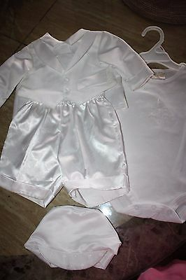 Keepsake Undee and Vested Christening Set (Boys) 0-3 Months