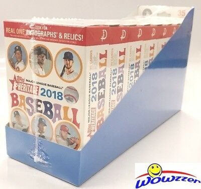 2018 Topps Heritage Baseball EXCLUSIVE HANGER Case with 8 Factory Sealed Boxes!