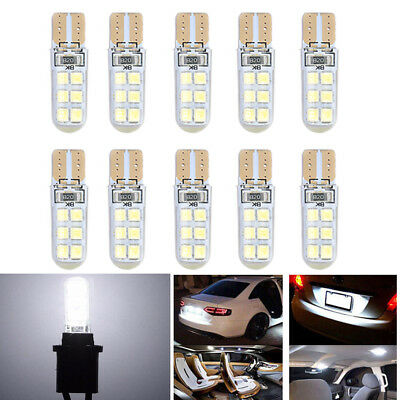 Lots 10x White LED Canbus Super Bright Car Width Lights Lamps Bulbs T10 2835