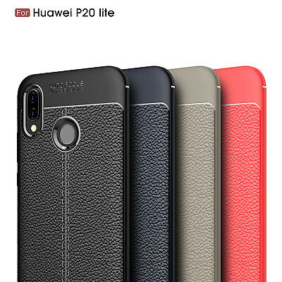 Ultra Thin Luxury PU Leather Soft TPU Shockproof Case Cover For Huawei P20 Lite