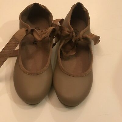 Danshuz Girls 12.5 Beige Tap Shoes