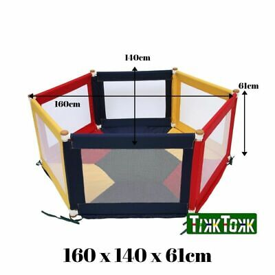 Light Weight Fabric Baby Kids Toddler Safety Playpen Hexagonal - Multi-Coloured