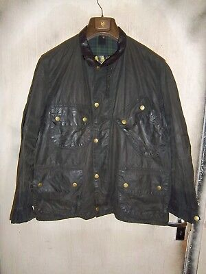Rare Vintage Shabby Chic Barbour Beacon Waxed Jacket Size C48122Cm