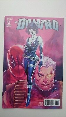 Domino # 1  Nm  1:25  Rob Liefield  Deadpool & Cable Variant  2018