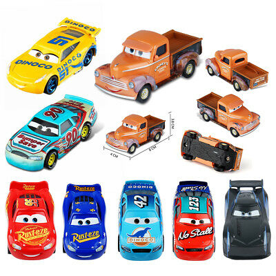 Pixar Diecast Cars3 Sally Doc Hudson Smokey Racer Chick Hick Flo Kids Toy