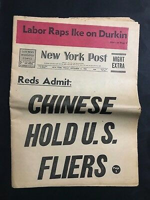 Vintage Newspaper New York Post September 11Th 1953, 72 Pages