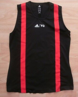 adidas Y-3 ROLAND GARROS PARIS BLACK RED TENNIS TANK TOP VEST LADIES UK 12-14