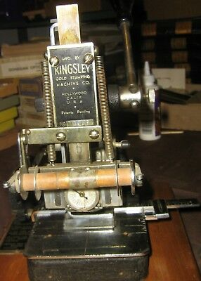 Kingsley Hot Foil Stamping Machine, 2 Boxes Type Fonts, Foil Rolls, Accessories